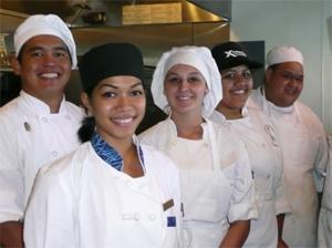 Hawaii Island culinary arts students