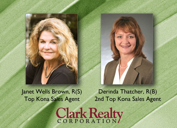 2012 Kona top sales agents